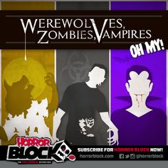 Werewolves, Zombies, Vampires! Oh My! The February block is looking good.