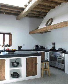 une cuisine de campagne résolument contemporaine #cuisine #bois