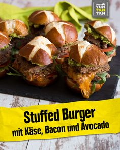 Superfood, Bacon Avocado, No Cook Meals, Cheddar, Food Videos, Hamburger, Sushi, Food And Drink, Fast Food