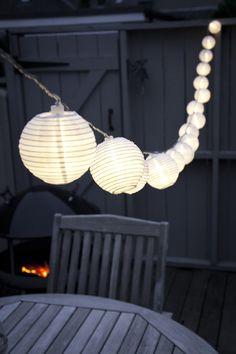 White summer lantern fairy lights by Lights4fun