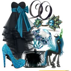 "Bedecked jeweled ""queen chrysalis"" by jesandersen on Polyvore - an outfit worthy of photo shoots, fancy dress galas, pony proms, and BIG APPLE PONYCON"
