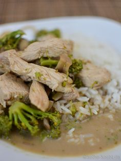 Grünes Putencurry mit Reis - Katha-kocht!