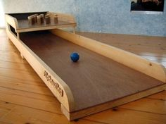 Old Dutch games Game Wood Home backyard Kid Child DIY Idea Flip Bowling Vintage Antique
