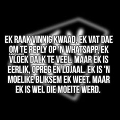 Afrikaanse Quotes, Funny Quotes About Life, Love Life, True Stories, South Africa, Thats Not My, Facts, Friends, Everything
