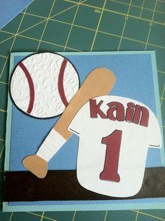 cute baseball themed birthday card