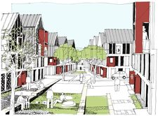 The Ridgeway Village will set a new standard for sustainable urban family living in the world class setting of North West Cambridge. Plan Concept Architecture, Sketchbook Architecture, Architecture Courtyard, Landscape Architecture Drawing, Container Architecture, Futuristic Architecture, Landscape Design, Architecture Design, New Urbanism
