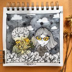 Shy Teeming  #inktober #inktober2017 #shy #inking #inkmyday #autumn #inspiration #art #ilustracion #illustration