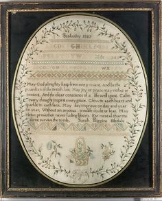 Sampler                                                                                 Date:                                      1803                                                       Culture:                                      British                                                       Medium:                                      Silk on wool