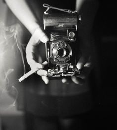 smoke and mirrors and hands and cameras // bw // photography //
