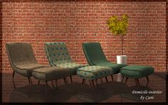 Domicile-interior: Moxxa's Awesims Curvelounger