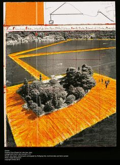 Christo Floating Piers (Progetto per il Lago d'Iseo, Italia; Project for Lake Iseo, Italy)