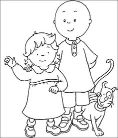 The 76 Best Caillou Coloring Fun Images On Pinterest