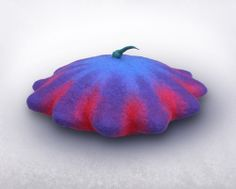 Squash shaped beret hat by Issa Felt. - fun hat