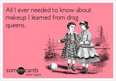 Drag queens & Kevyn Aucoin. Yep.