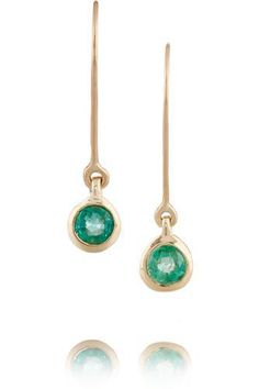 10-karat gold emerald earrings #goldjewelry #women #covetme #scosha #gorgeous