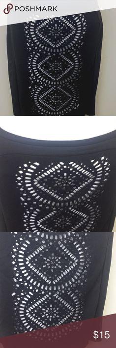 Spotted while shopping on Poshmark: Worthington pencil skirt SZ 10 black cut out A37! #poshmark #fashion #shopping #style #Worthington #Dresses & Skirts