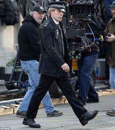 "Javier Bardem as the villain on the set of the new James Bond movie ""SKYFALL"""