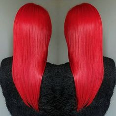 We are always super-impressed by the beautiful coloring skills from Jaymzcutshair. In this great pic, the shiny, healthy hair was dyed with our Pillarbox Red after being pre-bleached by the UK stylist. Your hair can be damaged over time from excessive bleaching, so to help it stay silky and healthy, try leaving some coconut oil in your strands for a few hours!