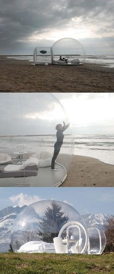 Interesting! Have fun camping in bubble tents and see the sky while laying on your cot ! visit us @ http://travel-buff.com/