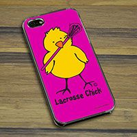 Lacrosse iPhone/Galaxy Case Lacrosse Chick - This customizable protective case is the perfect accessory for any lacrosse players phone. This great cell phone case fits the iPhone 4, iPhone 4S, iPhone 5, Samsung Galaxy S3, and Samsung Galaxy S4..