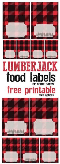 Lumberjack food labels or name cards free printable. Adorable lumberjack decor for your birthday party baby shower or woodsy wedding. The post Lumberjack food labels or name cards free printable. Adorable lumberjack decor f appeared first on Decoration. Fiesta Baby Shower, Baby Shower Parties, Baby Shower Themes, Baby Boy Shower, Shower Ideas, Shower Party, Baby Showers, First Birthday Parties, Boy Birthday