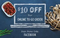 Macaroni Grill To-Go Orders 10$ off 20$ Coupon!