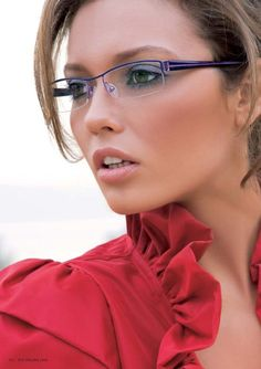 Half rim or semi rimless glasses women