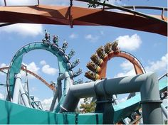 (done) Dueling Dragons -Fire  Universal Islands of Adventures, Florida