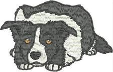 REALISTIC BORDER COLLIE 10  MACHINE EMBROIDERY DESIGNS 2 SIZES
