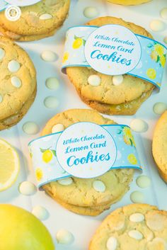 Printable cookie wrappers are a great way to get our delicious chocolate chip lemon curd cookies ready for gift giving. Download the free prinatbles at our blog. #freebie #printables #cookiewrapper | countryhillcottage.com
