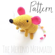 Martha the Mouse Amigurumi Crochet Toy Pattern PDF by WitchFibreCo