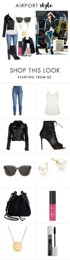 """""""Jessica Jung First Class"""" by roseyfox ❤ liked on Polyvore featuring Gianvito Rossi, Gentle Monster, Majorica, Valentino, Charlotte Russe, Jane Basch, Christian Dior, Essie and airportstyle"""