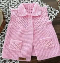 "KNITTING # 🌼 # ""Pinkish # 💖💖 me # who knows your owner My backup page. Baby Sweater Patterns, Baby Cardigan Knitting Pattern, Knit Baby Sweaters, Girls Sweaters, Baby Knitting Patterns, Baby Patterns, Baby Pullover Muster, Crochet Baby Clothes, Knitting For Kids"