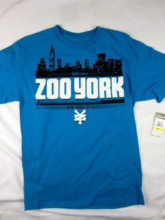 Zoo York NYC skate short sleeve t shirt men's blue size MEDIUM #ZooYork #GraphicTee