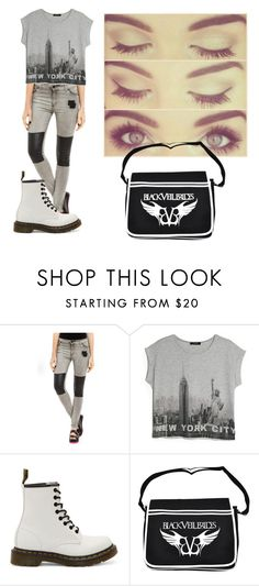 """ny"" by rute-ferreira ❤ liked on Polyvore featuring MANGO and Dr. Martens"