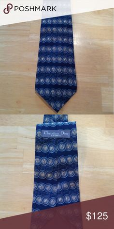 """Vintage Christian Dior Cravate Men's Tie Vintage Christian Dior Cravate Men's Tie.   57""""L 4""""W.  Preowned item with no holes, rips or stains. Christian Dior Accessories Ties"""