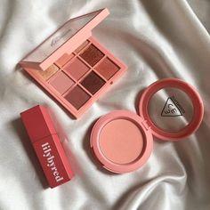 3ce Makeup, Makeup Kit, Skin Makeup, Makeup Inspo, Makeup Cosmetics, Makeup Inspiration, Beauty Makeup, Korean Makeup Brands, Peach Makeup
