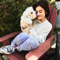Lucy Hale and her puppy are cuties