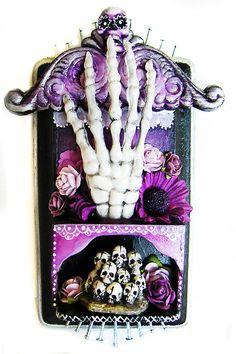 dia de los muertos shrine: CATbox art studio (my art)