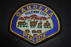 Gardena Police Patch, Los Angeles County, California (Current 1950's Issue)