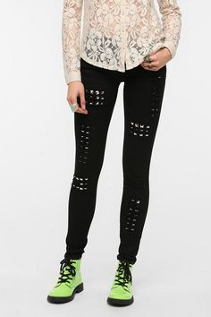 Tripp NYC Studded Ripped Skinny Jean  #UrbanOutfitters