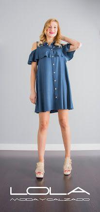 Las tardes te piden vestidos para disfrutar del buen tiempo.  Pincha este enlace para comprar tu vestido azul de OKY COKY en nuestra tienda on line:  http://lolamodaycalzado.es/primavera-verano-17/1441-oky-coky-5429.html