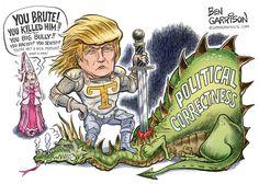 Donald Trump Political corretness Dragon Slayer