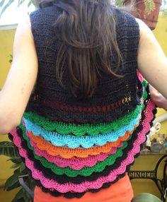Tejidos Crochet Chaleco Con Volados En Hilo Con Seda - $ 220,00 en MercadoLibre
