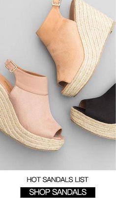 5186b65b9e01 Chellysun  Shop Sandals. Low Wedge SandalsWedge ShoesSandal ...