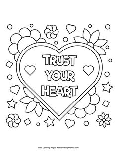 Valentine's Day Coloring Pages eBook: Hugs and Kisses ...