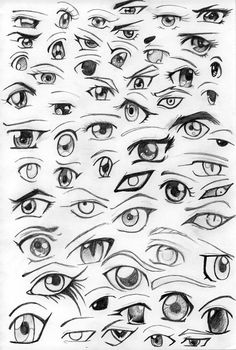 how to draw anime eyes - Google Search