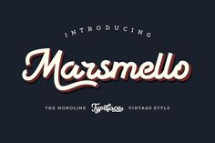 Marsmello Typeface by Sehat Co. on @creativemarket