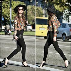 Mango Shirt, Mango Bag, American Apparel Jeans, Zara Heels, Filippo Catarzi Hat, Miu Miu Sunnies <3 #fashionbag