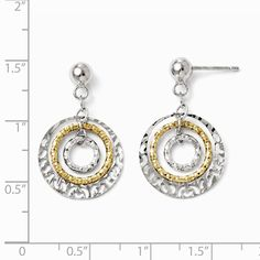 9fb0c7a46 ICE CARATS 925 Sterling Silver Gold Tone Flash Plated Post Stud Drop Dangle  Chandelier Earrings Fine Jewelry Gift For Women Heart * Check out the image  by ...
